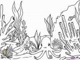 Coral Coloring Pages Coral Coloring Pages Inspirational How to Draw A Coral Reef Step 8