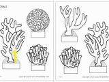 Coral Coloring Pages Corals Printable Templates & Coloring Pages
