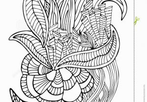 Coral Coloring Pages Hand Drawn Page In Zendoodle Style for Adult Coloring Book Abst