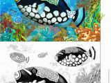 Coral Reef Coloring Pages the Coral Reef Small Colorful Coral Fishes with Coloring Page