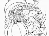 Cornucopia Basket Coloring Page Free Printable Fall Coloring Pages for Kids Crafts