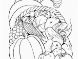 Cornucopia Basket Coloring Page Free Printable Thanksgiving Fruit Basket Coloring Page