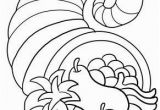 Cornucopia Basket Coloring Page Thanksgiving Cornucopia Coloring Page