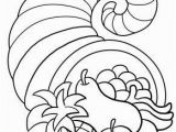 Cornucopia Basket Coloring Page Thanksgiving Cornucopia Coloring Page