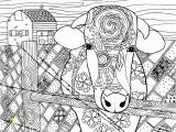 Cow Head Coloring Page Free Cow Animal Coloring Page for Adults Coloring Pages