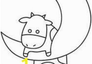 Cow Jumping Over the Moon Coloring Page 124 Best Shrink Plastic Images