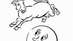 Cow Jumping Over the Moon Coloring Page 56 Best Cow Over the Moon Ideas Images On Pinterest
