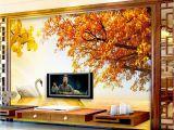Cowboy Wallpaper Murals Custom Retail Gold Swan Lake sofa Background Wall Sunset West Red