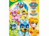 Crayola Giant Coloring Pages Nickelodeon Paw Patrol Mighty Pups Crayola Giant Colouring Pages Paw Patrol