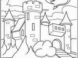 Crayola Mini Coloring Pages Disney Princess Castle with Dragon Flying Coloring Page