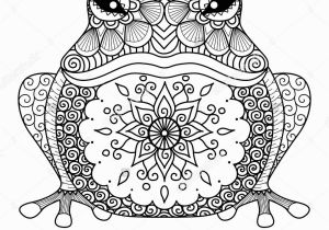 Crazy Frog Coloring Pages Hand Drawn Zentangle Frog for Coloring Book for Adult Shirt Design