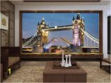 Create Wall Mural From Photo Custom Size 3d Wallpaper Livingroom Mural European Style tower Bridge 3d Picture Mural Home Decor Creative Hotel Study Wall Paper 3 D Movie
