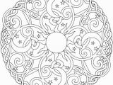 Create Your Own Mandala Coloring Page Celestial Mandala Box Card and Coloring Page
