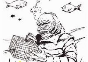 Creature From the Black Lagoon Coloring Pages 985 Best Creature From the Black Lagoon Art Images On Pinterest