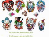 Creepy Clown Coloring Pages Amazon Clown Collection Evil Clown Temporary Tattoos