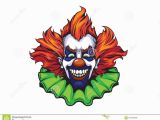 Creepy Clown Coloring Pages Evil Clown Halloween Illustration Stock Illustration