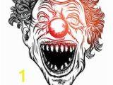 Creepy Clown Coloring Pages Scary Clown Drawing Stock S & Vectors