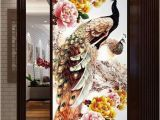 Cross Stitch Wall Mural 2019 100x50cm Diy 5d Diamond Embroidery Diamond Mosaic New Peacock soul Love Round Diamond Painting Cross Stitch Kits Home Decoration From