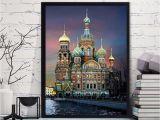 Cross Stitch Wall Mural 40x30cm Creative 3d Diy Diamond Painting St Petersburg