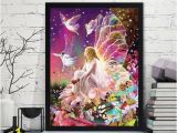 Cross Stitch Wall Mural Embroidery Paintings Rhinestone Pasted Diy Diamond Painting Cross Stitch Vova