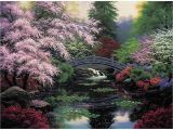 Cross Stitch Wall Mural M C G Textiles Candamar Design Bridge Of Tranquility Ctd X
