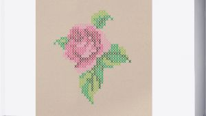 Cross Stitch Wall Mural Rose Cross Stitch Wall Mural