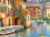 Cross Stitch Wall Mural Village the Water Mural Wallpaper In 2020