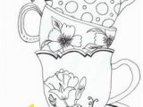 Cup Of Tea Coloring Page 126 Best Color Art therapy Food and Drinks Images On Pinterest