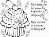 Cupcake Coloring Pages to Print if You Give A Cat A Cupcake Coloring Page Free Printable Birthday