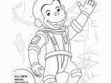 Curious George Printables Coloring Pages Free astronaut Curious George Printable Coloring Page