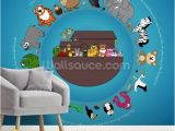 Custom Made Wall Murals Noah S Ark Wallpaper Mural