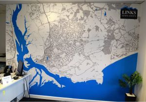 Custom Map Wall Murals by Wallpapered Custom Designed Map Wallpaper for the Office Od Wallpapered