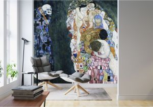 Custom Map Wall Murals by Wallpapered Death and Life Gustav Klimt – Popular Wall Mural – Wall