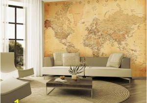 Custom Map Wall Murals by Wallpapered Vintage Map Wallpaper Mural