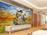 Custom Printed Wall Mural Großhandel Benutzerdefinierte Digital Print Wallpaper 3d Stereo Afrikanische Tierwelt Wohnzimmer Schlafzimmer Hintergrund Wanddekoration Wandbild