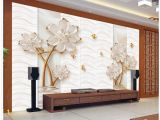 Custom Printed Wall Murals Customized Wallpaper for Walls Embossed Flower Home Decoration