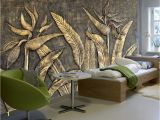 Custom Wall Mural From Photo Beibehang Custom Wallpaper Murals Golden Bird Of Paradise Sculpture