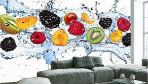 Custom Wall Mural Prints Custom Wall Painting Fresh Fruit Wallpaper Restaurant Living