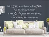 Custom Wall Mural Stickers Amazon Vinyl Wall Decal Ephesians 2 8 9 for by Grace