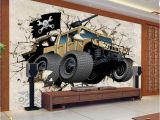 Custom Wall Murals Canada Custom Wall Mural Wallpaper 3d Cartoon Military Vehicles