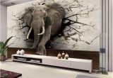 Custom Wall Murals Cheap Custom 3d Elephant Wall Mural Personalized Giant Wallpaper