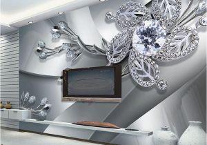 Custom Wall Murals Cheap Custom Any Size 3d Wall Mural Wallpaper Diamond Flower Patterns