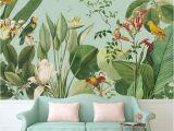 Custom Wall Paper Murals Birds Of Paradise Tropical Wall Mural