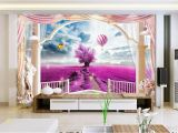 Custom Wall Paper Murals Custom 3d Wallpaper Mural Living Room sofa Tv Backdrop Mural Lavender Balloon Rome Balcony Picture Wallpaper Mural Sticker Home Decor High