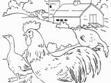 Cute Baby Chick Coloring Pages Farm Scenes Coloring Page