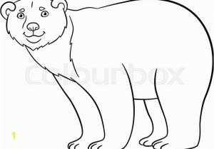 Cute Bear Coloring Pages Coloring Pages Cute Polar Bear Stands
