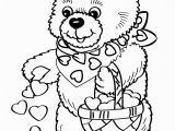 Cute Bear Coloring Pages Valentine S Day Coloring Pages