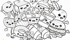 Cute Food Coloring Pages to Print Cute Food Coloring Pages Many Snacks Free Printable