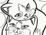 Cute Kitty Cat Coloring Pages Kitten Coloring Pages Cat Drawing Template at Getdrawings Ideas