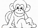 Cute Monkey Coloring Pages Cute Baby Monkey Coloring Pages 12